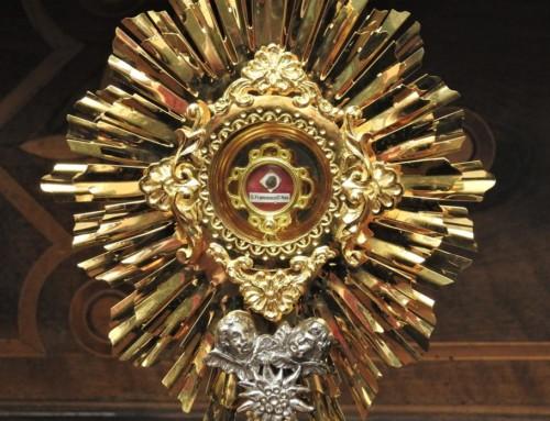 Počastitev relikvij sv. Frančiška Asiškega na Brezjah