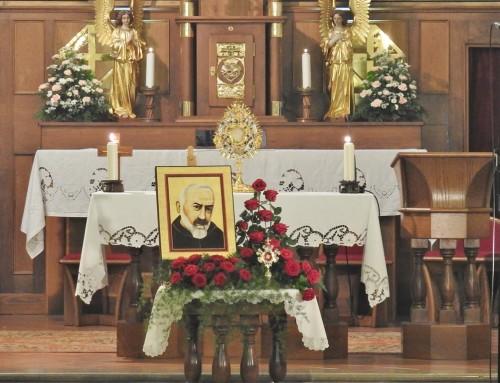 Praznovanje 50-letnice smrti sv. patra Pija in 100-letnice njegovega prejema svetih Kristusovih ran