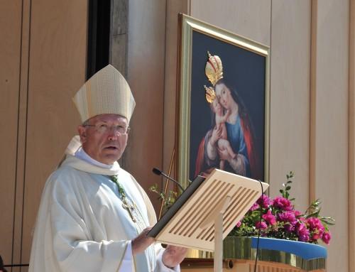 Nagovor nadškofa Antona Stresa na 45. narodnem romanju bolnikov in invalidov na Brezjah