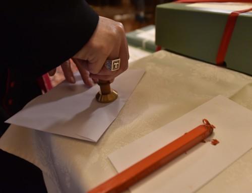 Posnetek sklepne seje škofijskega postopka za kanonizacijo Božjega služabnika  duhovnika Antona Strleta