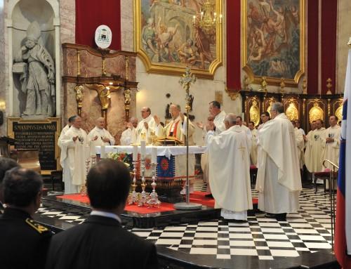 Nagovor nadškofa Antona Stresa pri maši za domovino