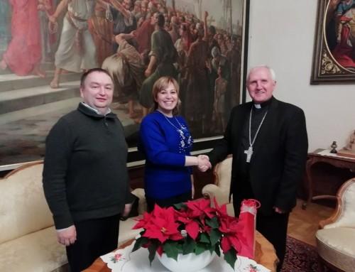 Nadškof Zore sprejel Saro Bevc Jonan