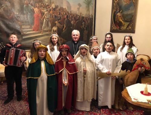 Obisk kolednikov na škofiji